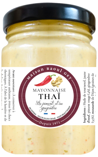 MAYONNAISE THAI AU PIMENT ET AU GINGEMBRE 90G